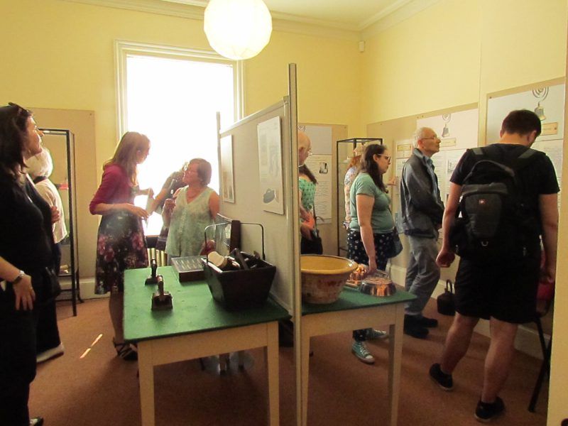 Visitors at Elizabeth Gaskell's House new exhibition about Servants