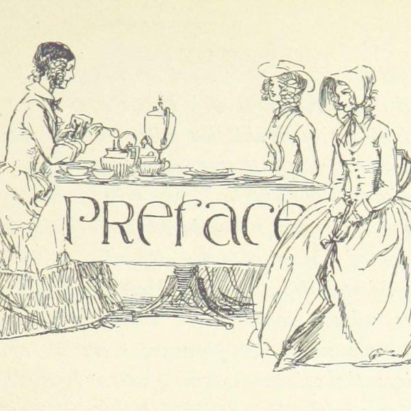 Hugh thomson illustration of ladies drinking tea