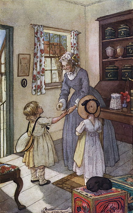image showing children buying sweets from Miss Matty